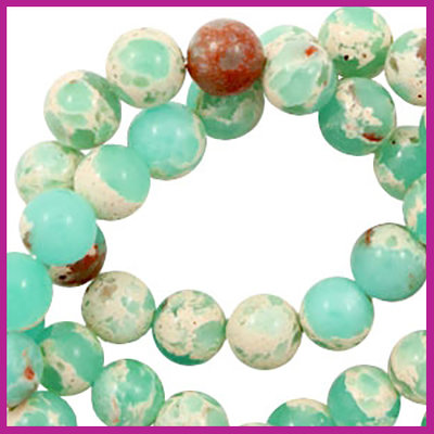 Jaspis Imperial Turquoise Green rond Ø8mm