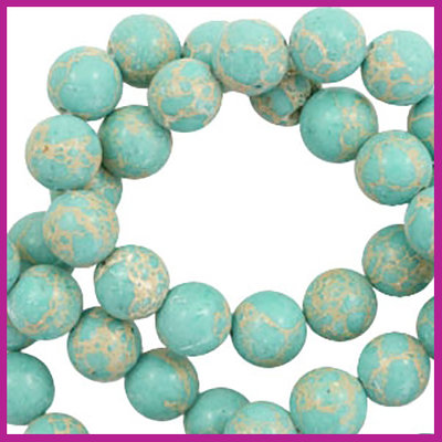 Jaspis Imperial Turquoise Blue rond Ø8mm