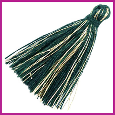 Kwastje basic goldline 3cm Dark green