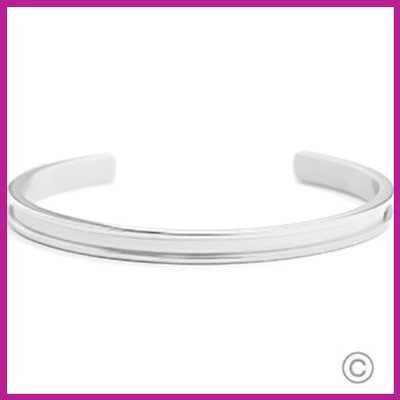 Miyuki Exchange RVS armband Zilver