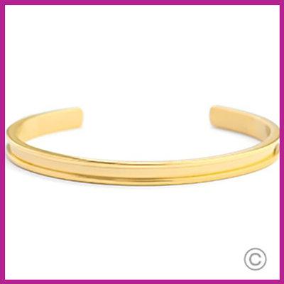 Miyuki Exchange RVS armband Goud