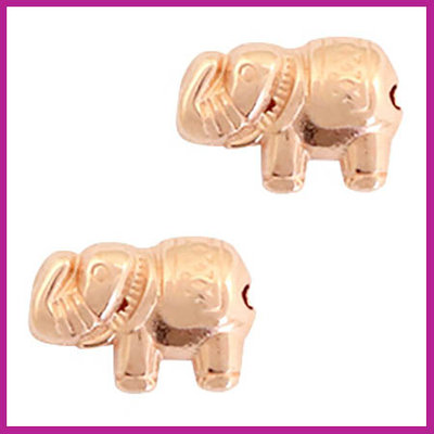 DQ metaal kraaltje olifant ROSEGOLD