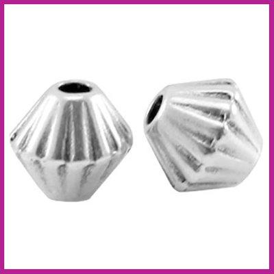DQ metaal kraaltje kleine cone Antiek zilver