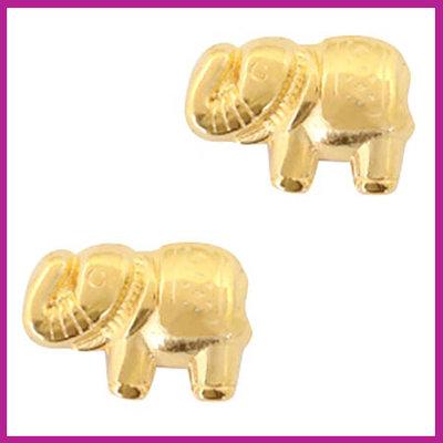 DQ metaal kraaltje olifant Goud