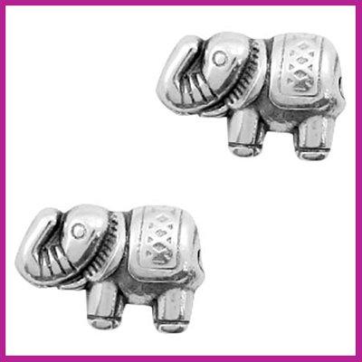 DQ metaal kraaltje olifant Antiek zilver