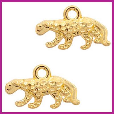 BQ metaal hanger luipaard Goud