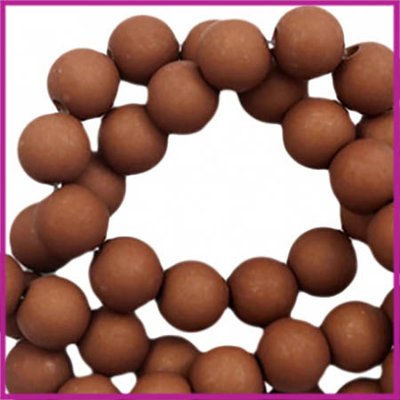 Acryl kraal mat 6mm Spectrum brown