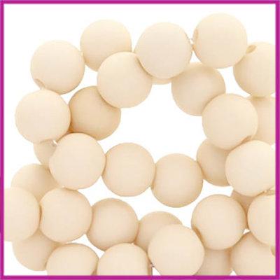 Acryl kraal mat rond 6mm Ivory cream beige