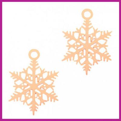 Bohemian metaal bedel sneeuwvlok rosegold
