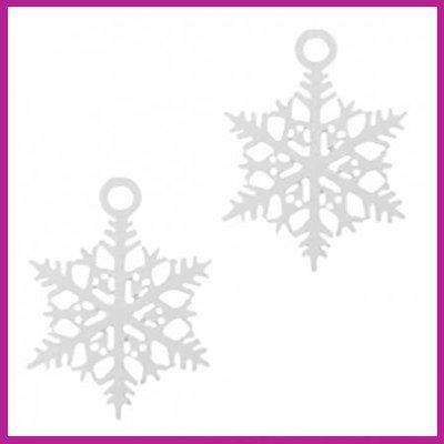 Bohemian metaal bedel sneeuwvlok zilver