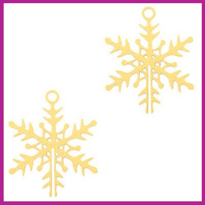 Bohemian metaal bedel sneeuwvlokje goud