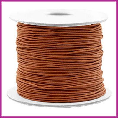 Gekleurd elastisch draad Ø0,8mm per meter Copper brown