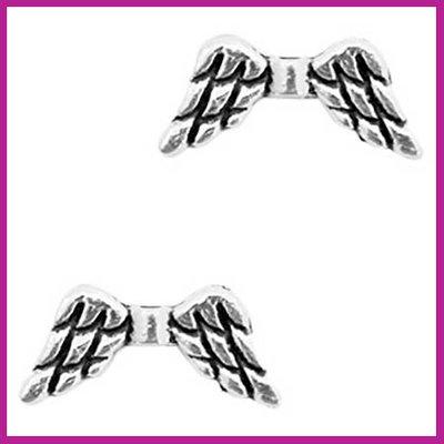 BQ metaal kraal engel vleugel Antiek zilver