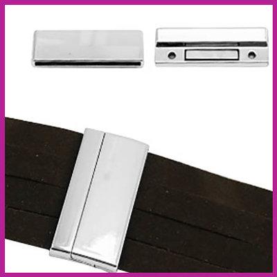 BQ metaal magneetslot voor 40mm leer Antiek zilver
