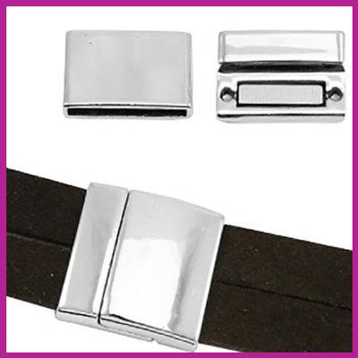 BQ metaal magneetslot voor 20mm leer Antiek zilver