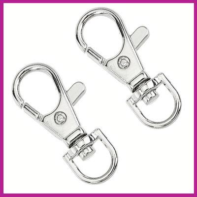 Metalen sleutelhanger medium ± 38x17mm Antiek zilver
