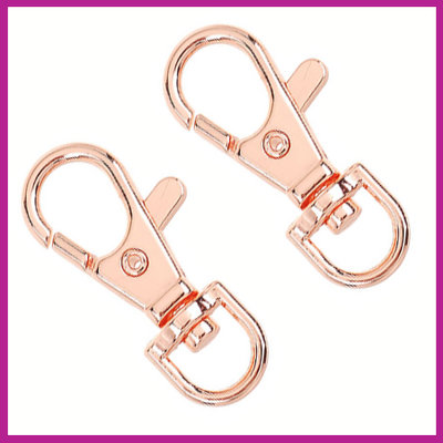 Metalen sleutelhanger medium Rosegold