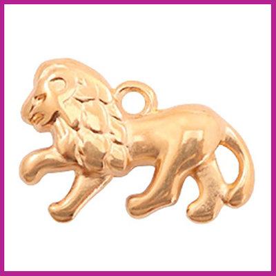 DQ metaal bedel leeuw rosegold