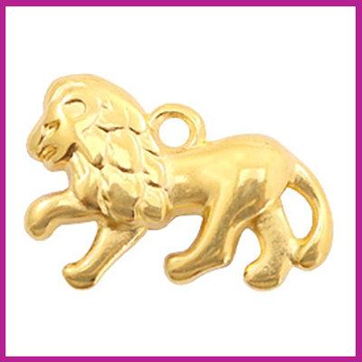 DQ metaal bedel leeuw goud