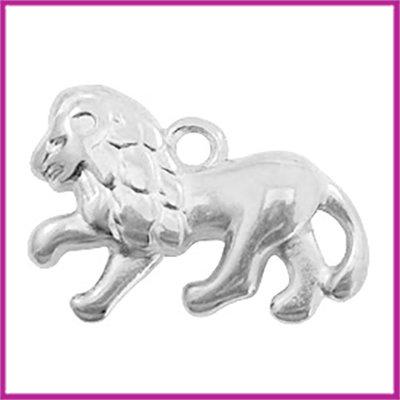 DQ metaal bedel leeuw antiek zilver