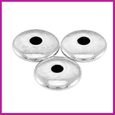 DQ metaal (afwerk)kraaltje disc Antiek zilver