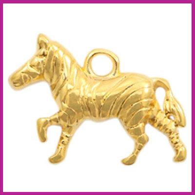 DQ metaal bedel zebra goud