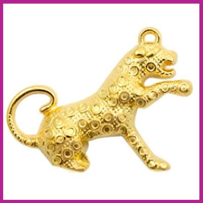 DQ metaal bedel luipaard goud