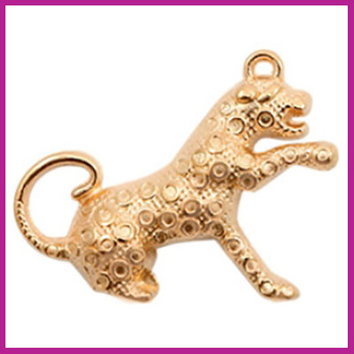 DQ metaal bedel luipaard rosegold
