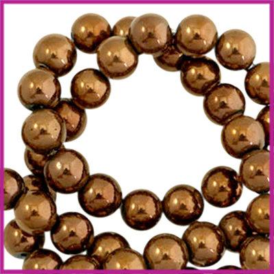 Hematiet kralen rond 4mm Brons rosegold