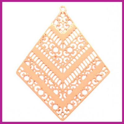 Bohemian metaal bedel ruit rosegold