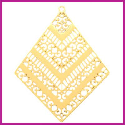 Bohemian metaal bedel ruit goud