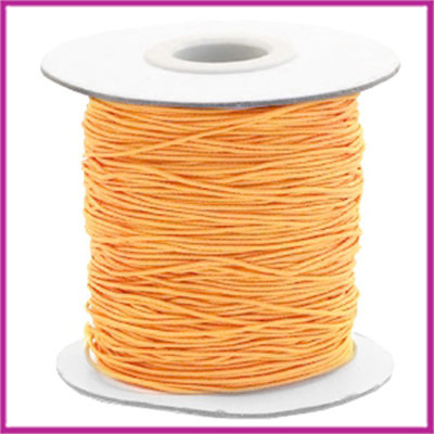 Gekleurd elastisch draad Ø0,8mm per meter Sunflower orange