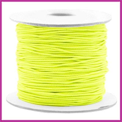 Gekleurd elastisch draad Ø0,8mm per meter Fluor yellow