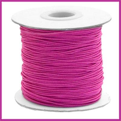 Gekleurd elastisch draad Ø0,8mm per meter Cherry pink