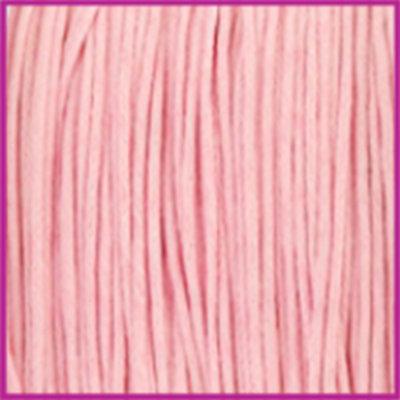 Waxkoord (katoen) Ø1mm powder pink per meter