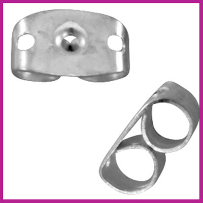 Metalen DQ oorbel stoppers Antiek Zilver