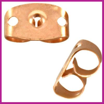 Metalen DQ oorbel stoppers Rosegold