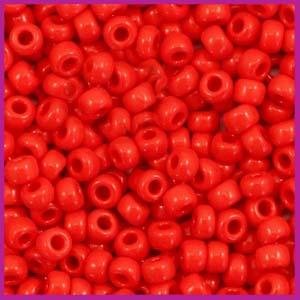 Miyuki rocailles 8/0 opaque red 408