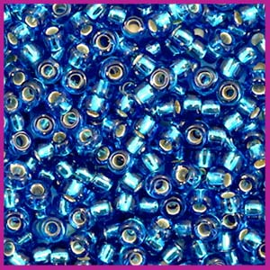 Miyuki rocailles 8/0 Silverlined capri blue 25
