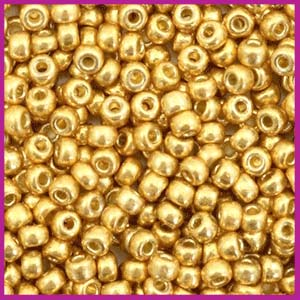 Miyuki rocailles 8/0 Duracoat galvanized gold 4202