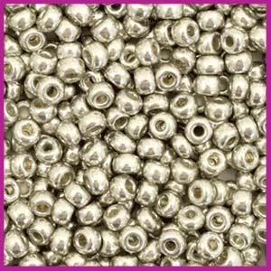 Miyuki rocailles 8/0 Duracoat galvanized light pewter silver 4221