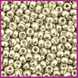 Miyuki rocailles 8/0 Duracoat galvanized silver 4201