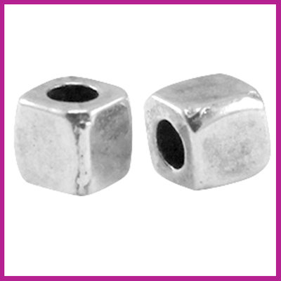 DQ metaal tube vierkant Antiek zilver