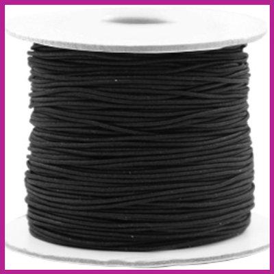 Elastiek koord zwart Ø1mm per meter