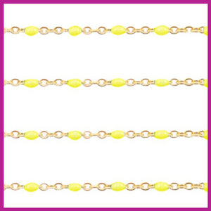 (RVS) Stainless steel jasseron ca. 24cm x 1mm Yellow-goud