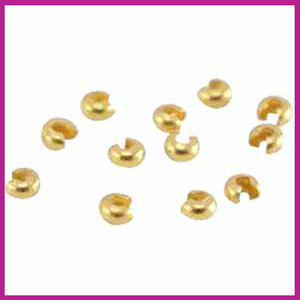 Voordeel DQ metaal knijpkraalverbergers 4mm Goud
