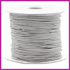 Gekleurd elastisch draad Ø0,8mm per meter Light grey