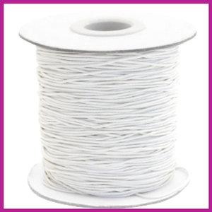 Gekleurd elastisch draad Ø0,8mm per meter Cream white