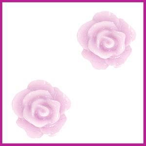 Roosje kraal 10mm lilac pink