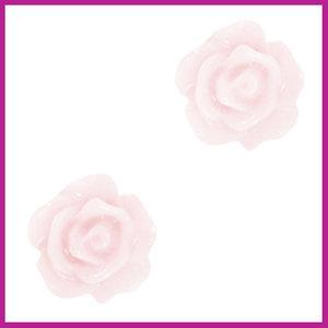 Roosje kraal 10mm hushed violet white